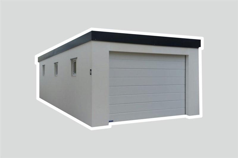 Hervorragend Fertiggarage Typ | ISO Massiv – garagenbox.com – günstige BF03