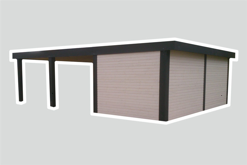 carport typ capo massiv systembox. Black Bedroom Furniture Sets. Home Design Ideas